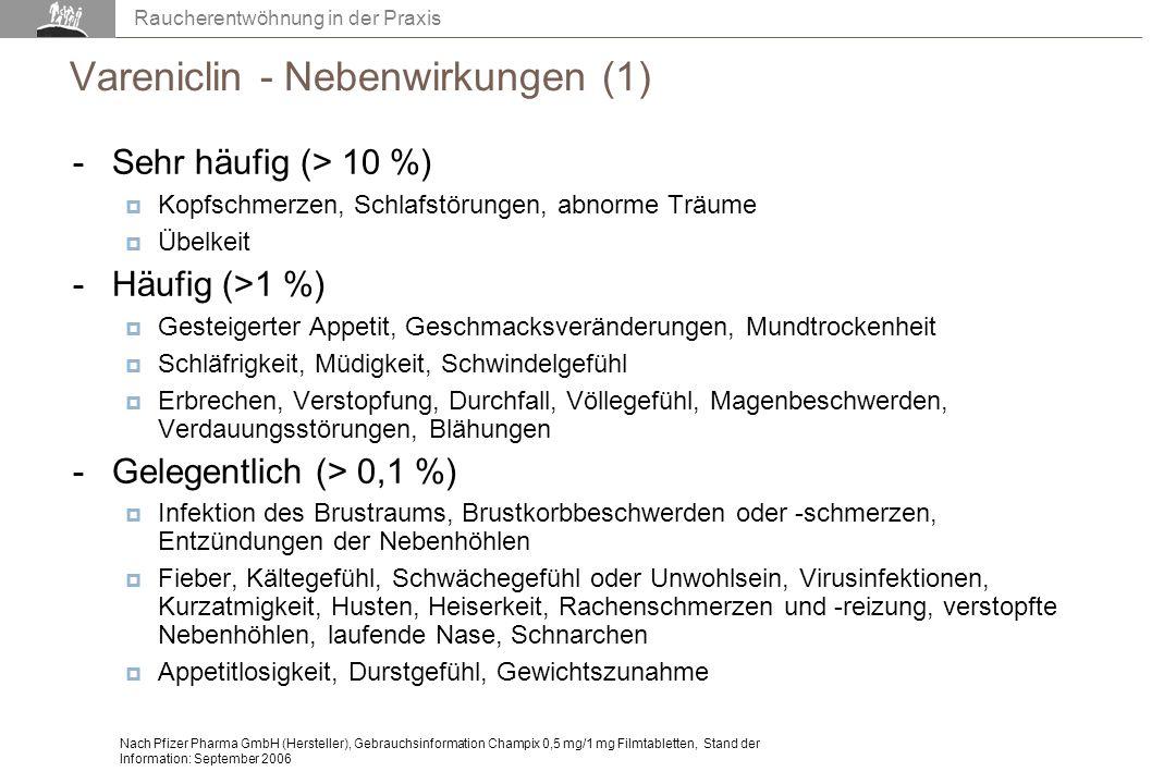 Vareniclin - Nebenwirkungen (1)