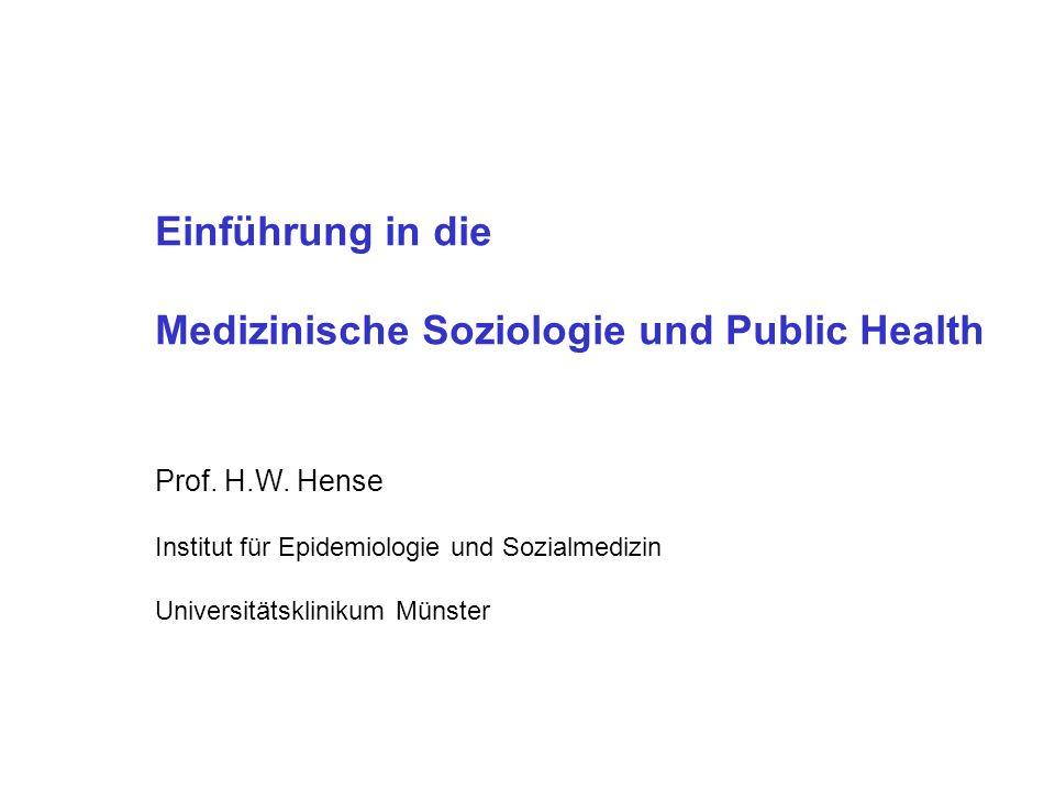 Medizinische Soziologie und Public Health