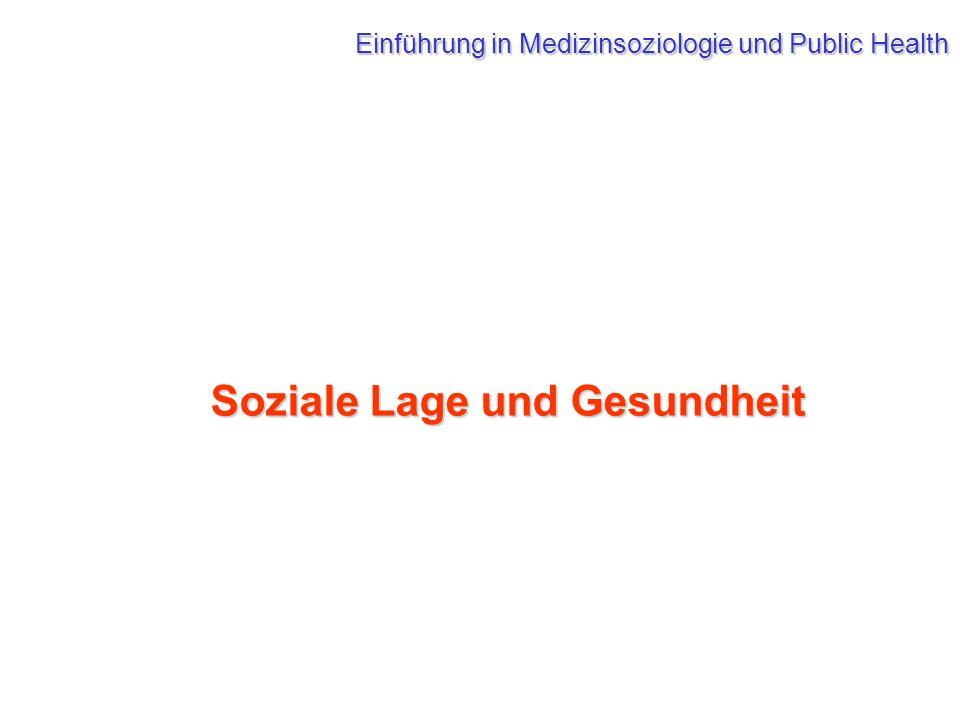 Soziale Lage und Gesundheit