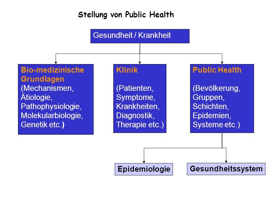 Stellung von Public Health