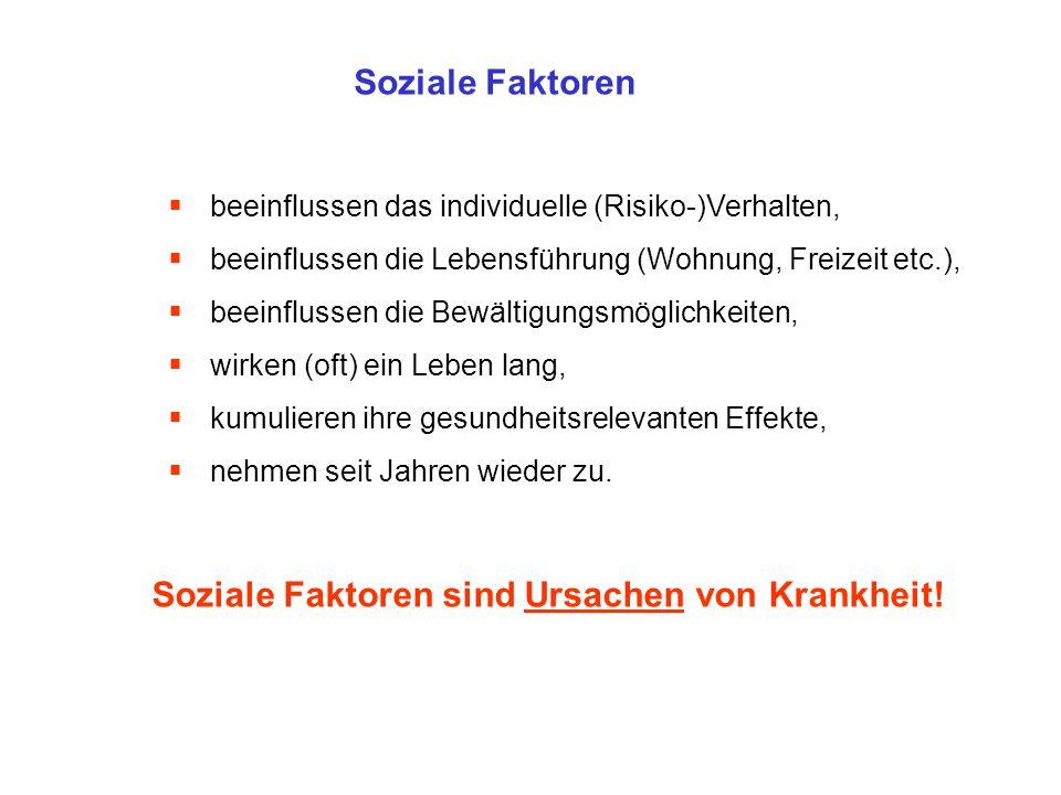 Soziale Faktoren sind Ursachen von Krankheit!