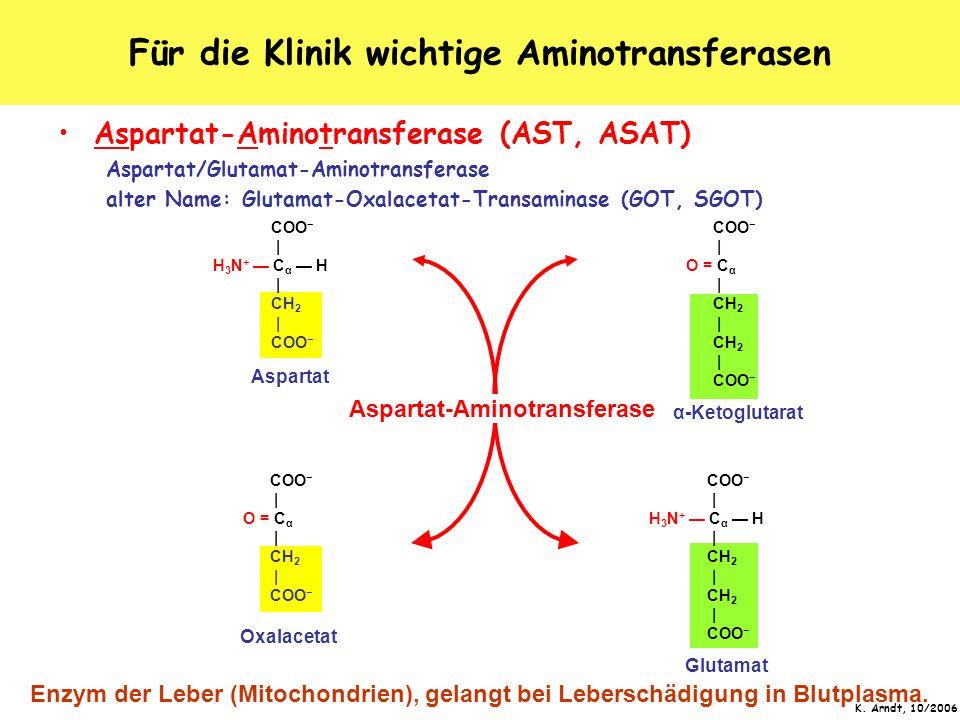 Für die Klinik wichtige Aminotransferasen