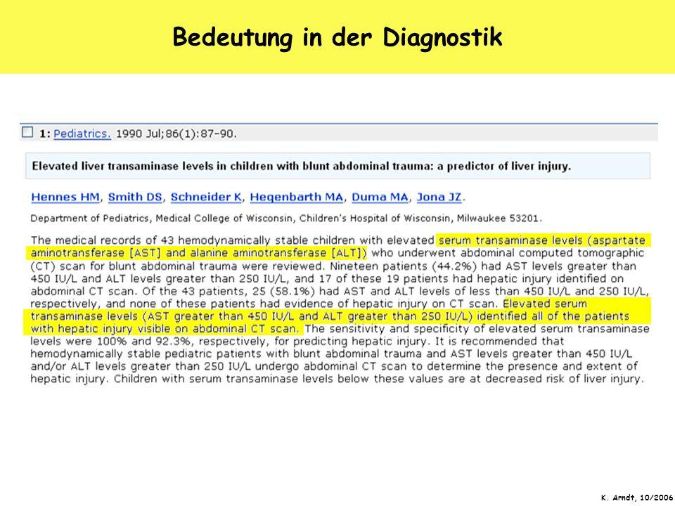 Bedeutung in der Diagnostik