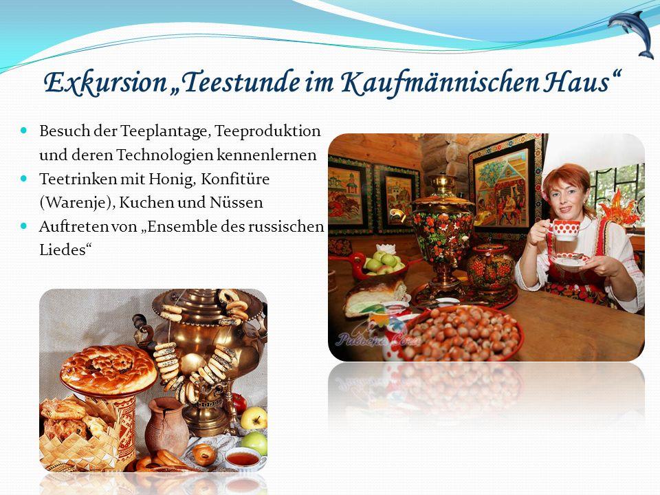 """Exkursion """"Teestunde im Kaufmännischen Haus"""