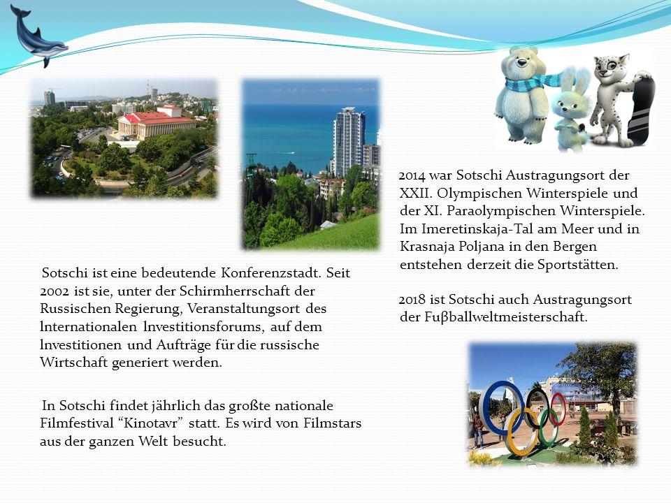 Sotschi ist eine bedeutende Konferenzstadt