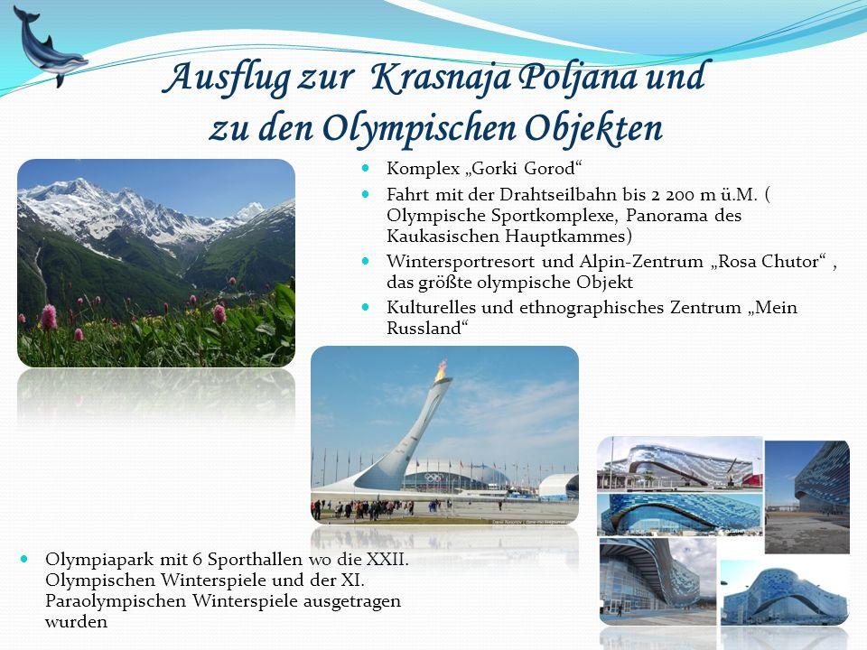 Ausflug zur Krasnaja Poljana und zu den Olympischen Objekten