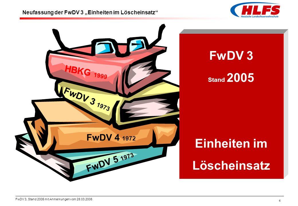 FwDV 3 Einheiten im Löscheinsatz