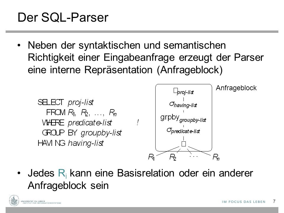 Der SQL-Parser
