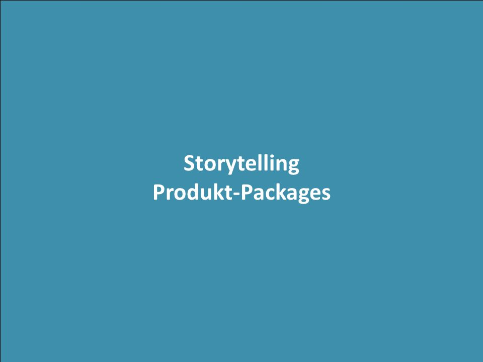 Storytelling Produkt-Packages