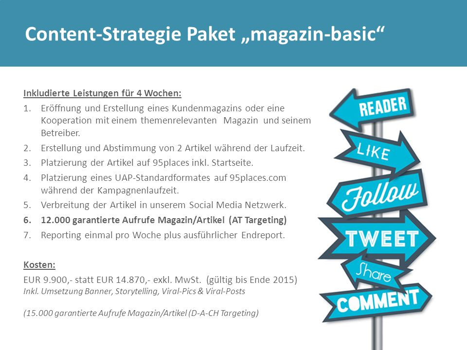 "Content-Strategie Paket ""magazin-basic"