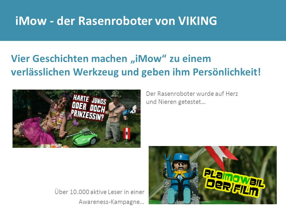 iMow - der Rasenroboter von VIKING
