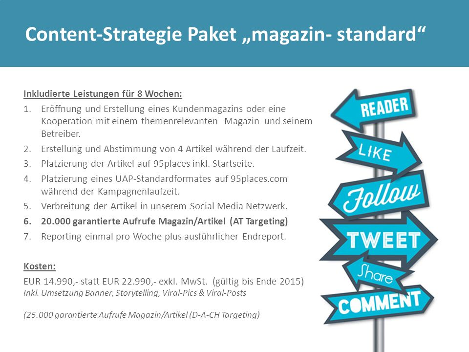"Content-Strategie Paket ""magazin- standard"