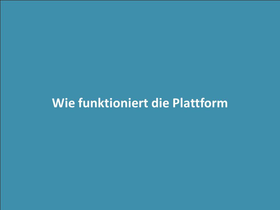 Wie funktioniert die Plattform