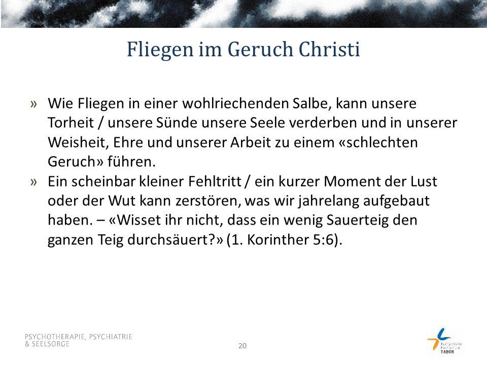 Fliegen im Geruch Christi