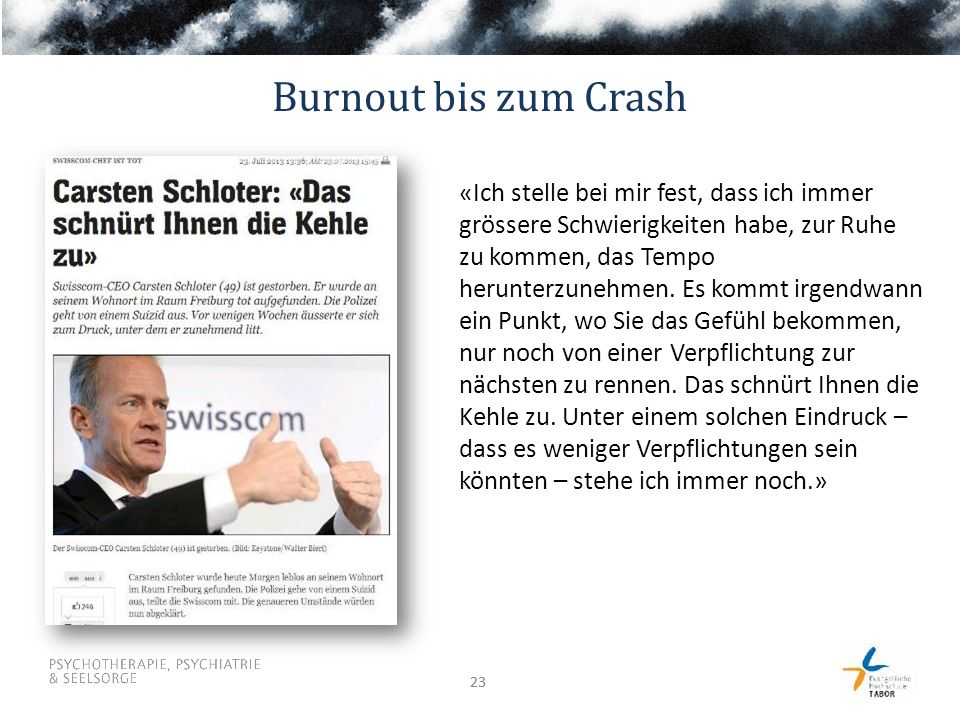 Burnout bis zum Crash