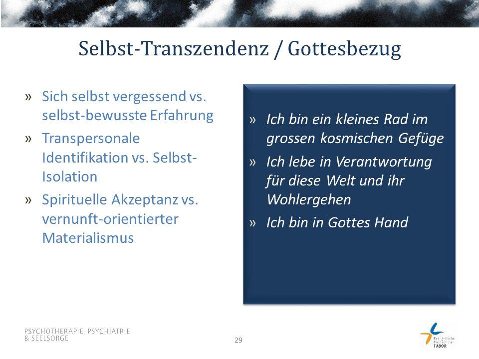 Selbst-Transzendenz / Gottesbezug