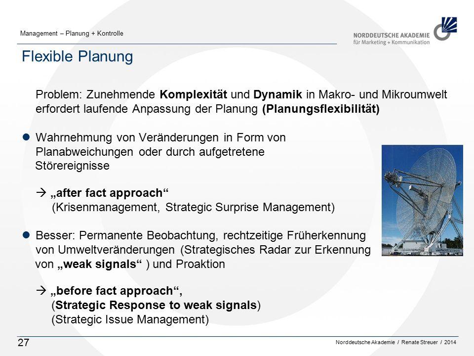 Flexible Planung