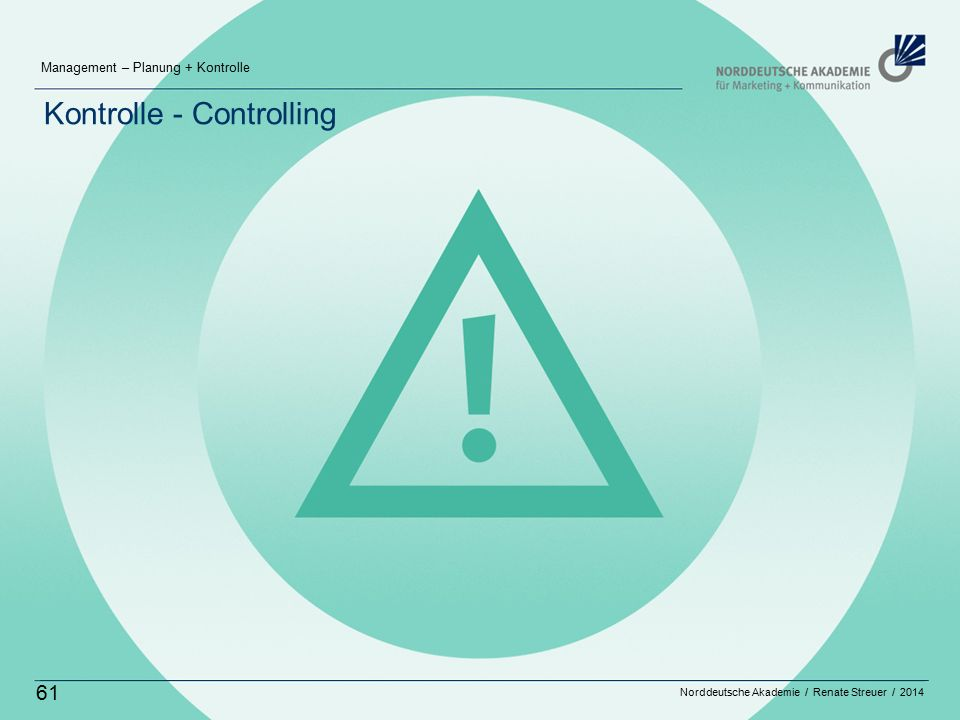 Kontrolle - Controlling