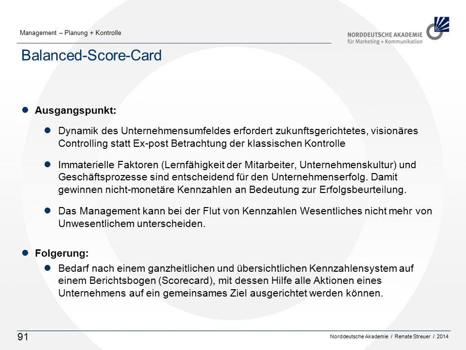 Balanced-Score-Card Ausgangspunkt: