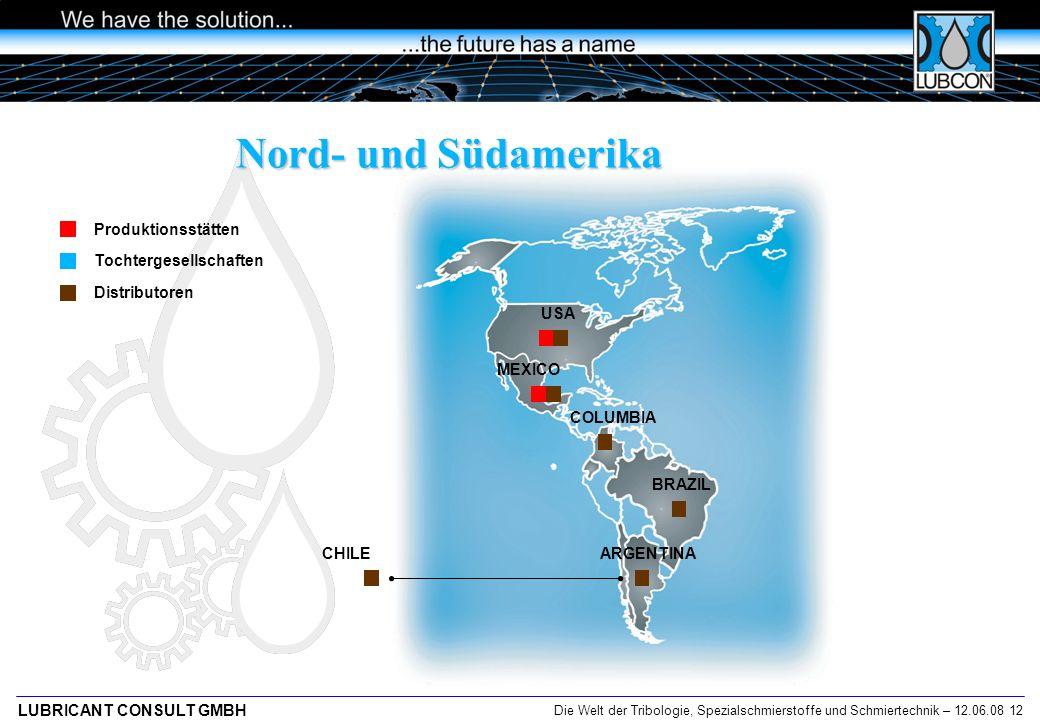 Nord- und Südamerika Produktionsstätten Tochtergesellschaften
