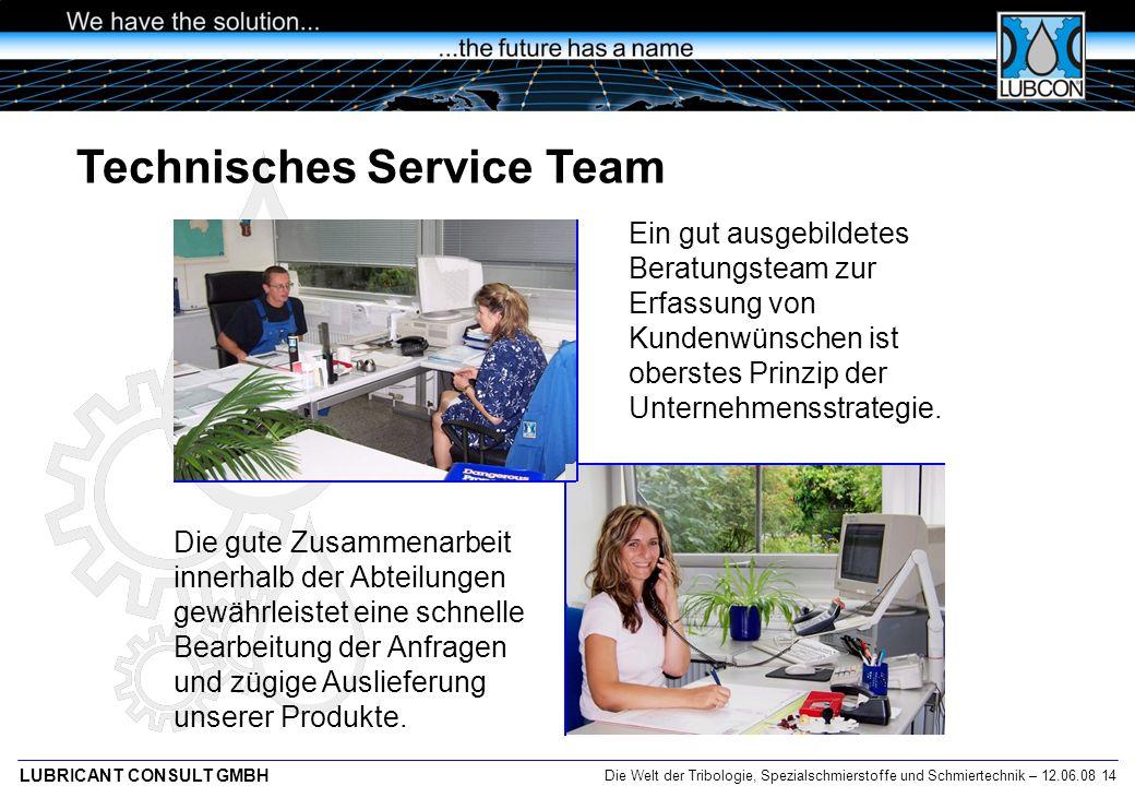 Technisches Service Team