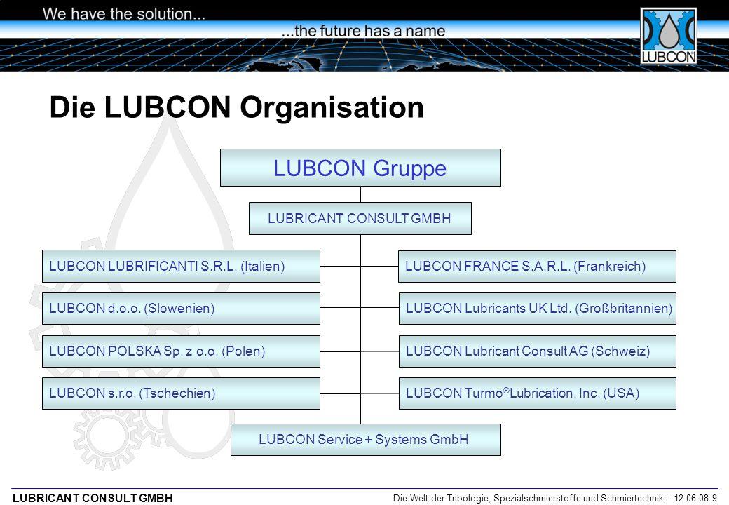 Die LUBCON Organisation
