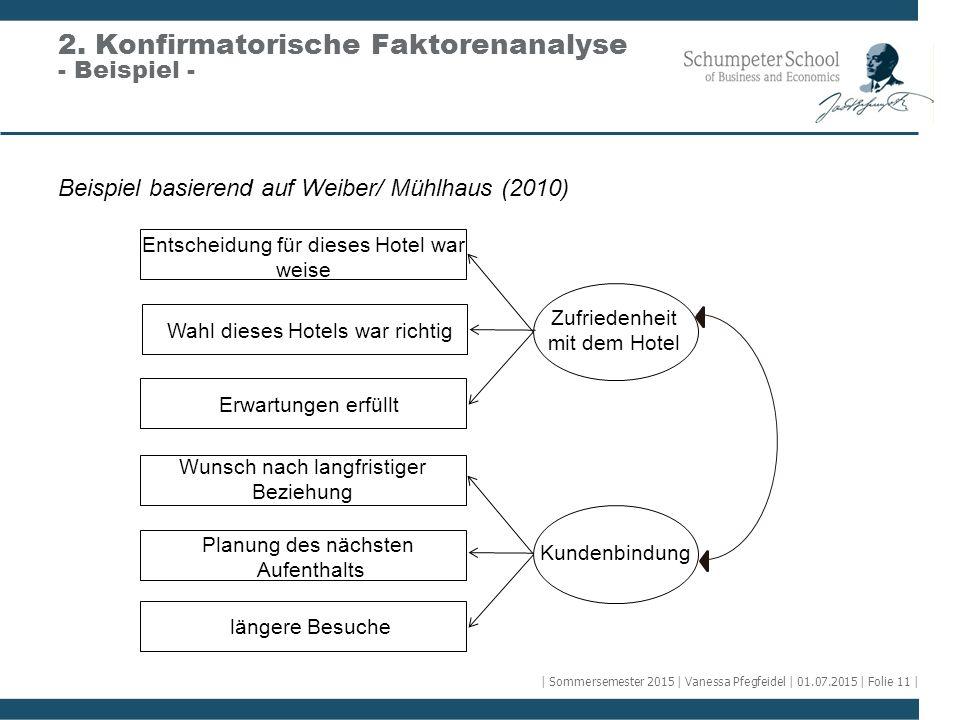 2. Konfirmatorische Faktorenanalyse - Beispiel -