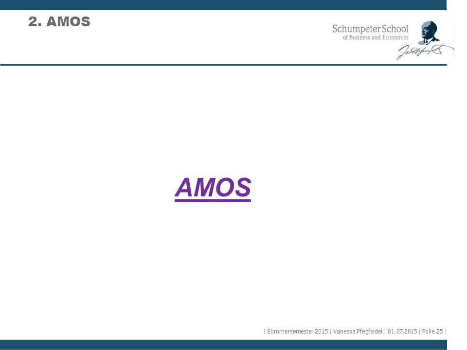 2. AMOS AMOS | Sommersemester 2015 | Vanessa Pfegfeidel | 01.07.2015 | Folie 25 |