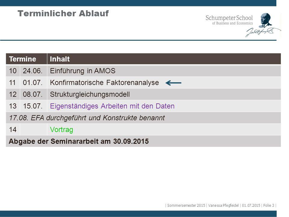 Terminlicher Ablauf Termine Inhalt 10 24.06. Einführung in AMOS 11
