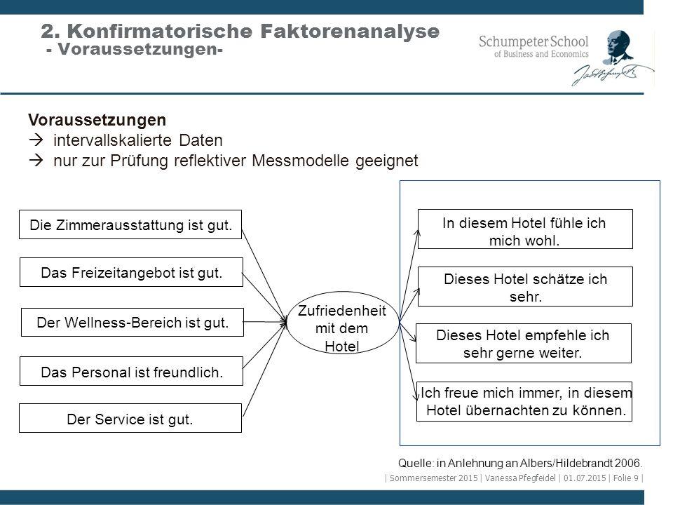 2. Konfirmatorische Faktorenanalyse - Voraussetzungen-