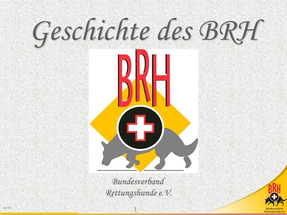 Geschichte des BRH Bundesverband Rettungshunde e.V. ev15