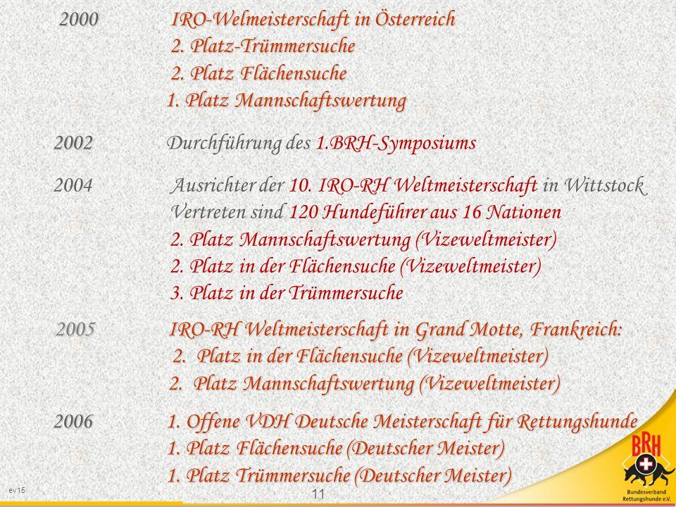 2000 IRO-Welmeisterschaft in Österreich