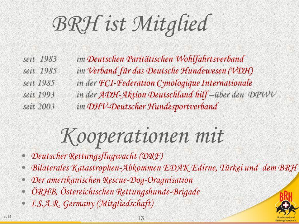 BRH ist Mitglied Kooperationen mit