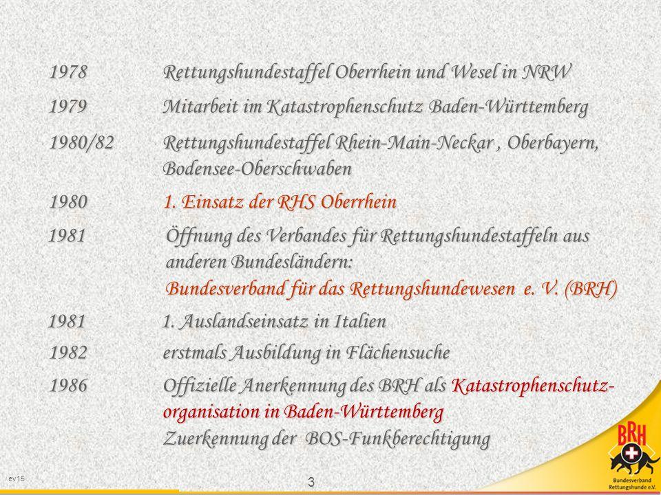 1978 Rettungshundestaffel Oberrhein und Wesel in NRW