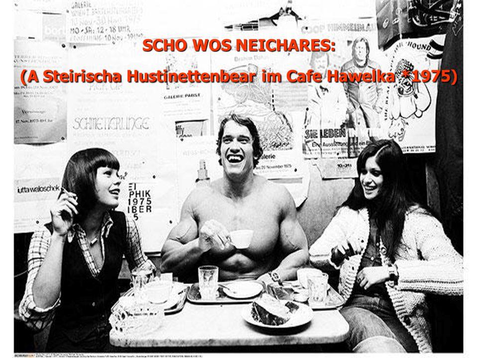 SCHO WOS NEICHARES: (A Steirischa Hustinettenbear im Cafe Hawelka