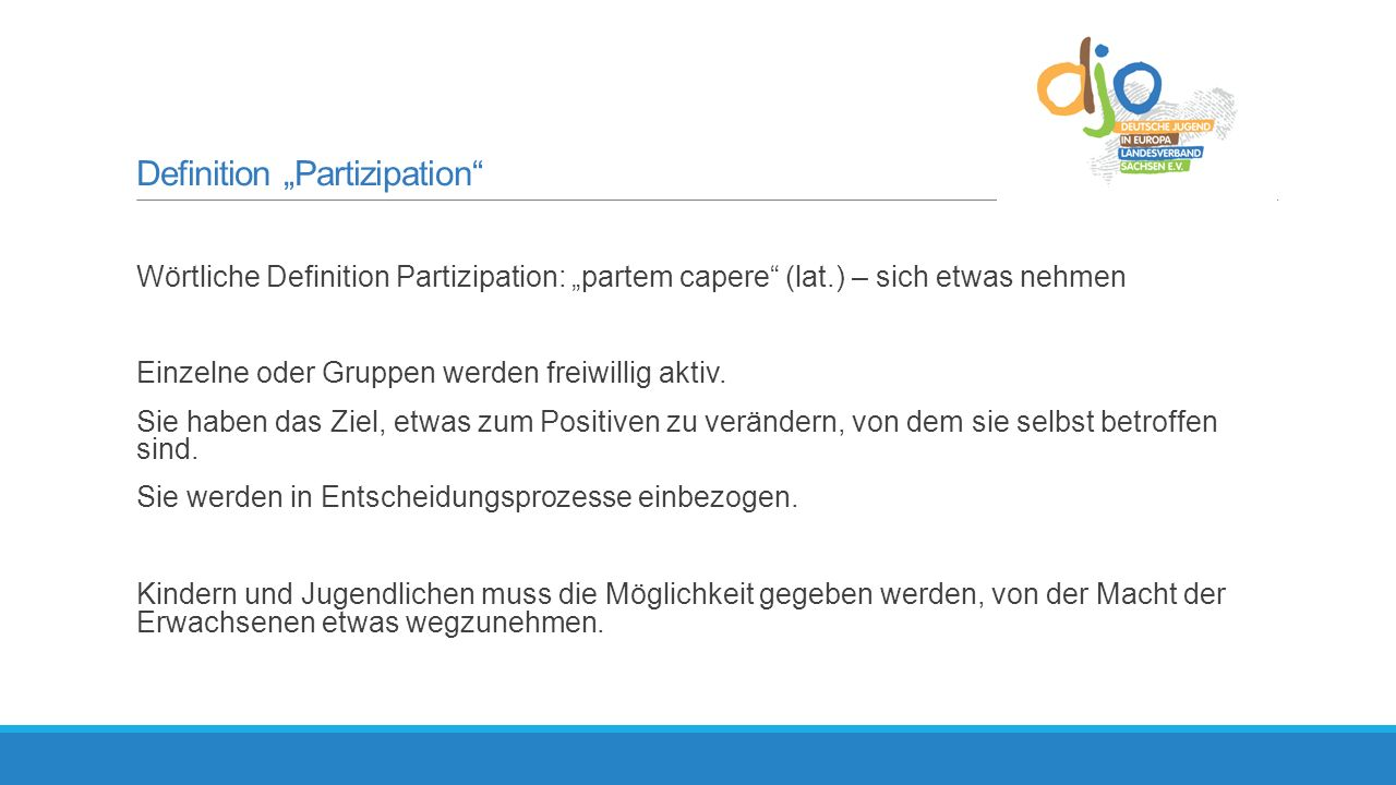 "Definition ""Partizipation"