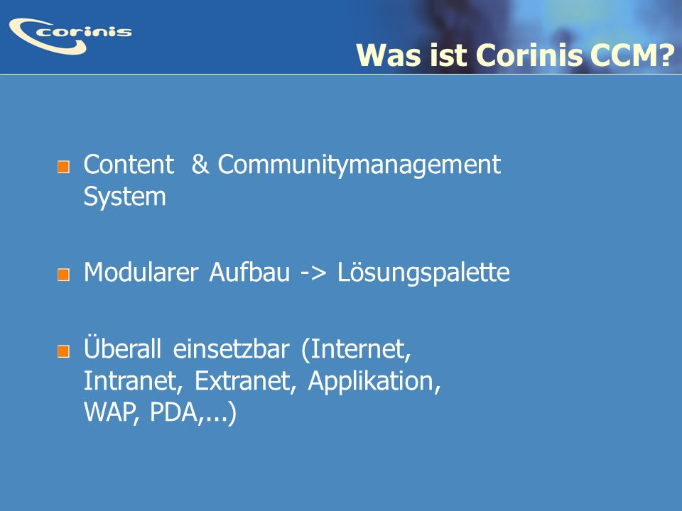 Was ist Corinis CCM Content & Communitymanagement System
