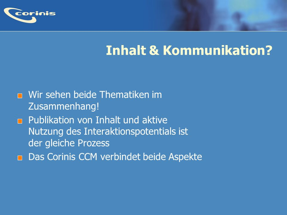 Inhalt & Kommunikation