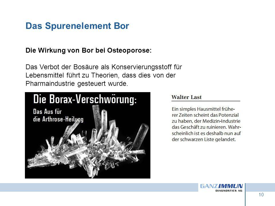Das Spurenelement Bor Die Wirkung von Bor bei Osteoporose: