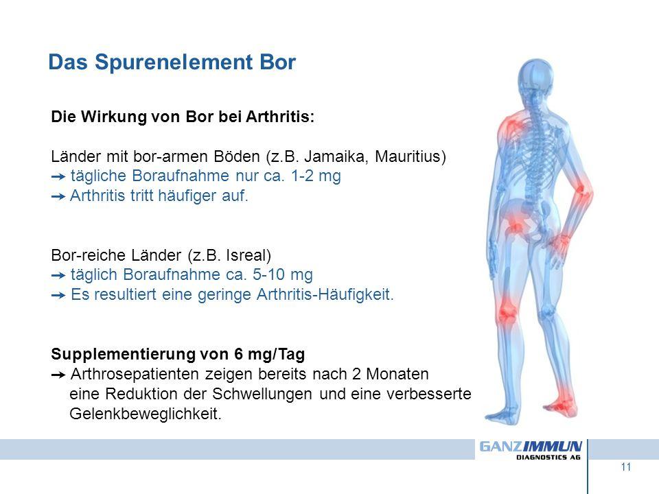 Das Spurenelement Bor Die Wirkung von Bor bei Arthritis: