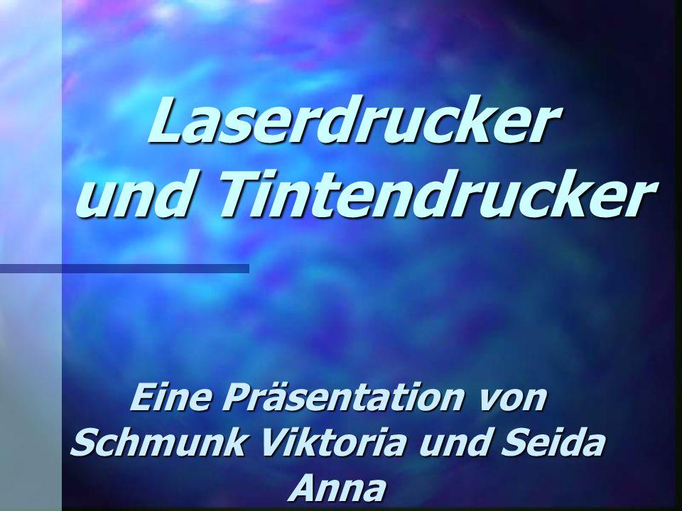 Laserdrucker und Tintendrucker