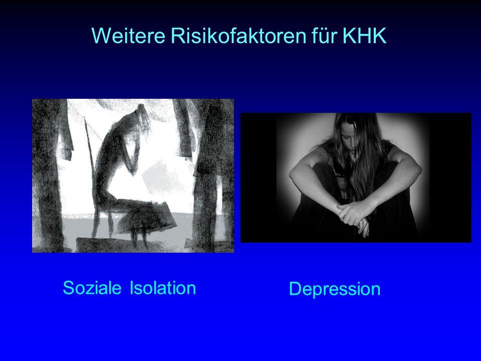 Weitere Risikofaktoren für KHK