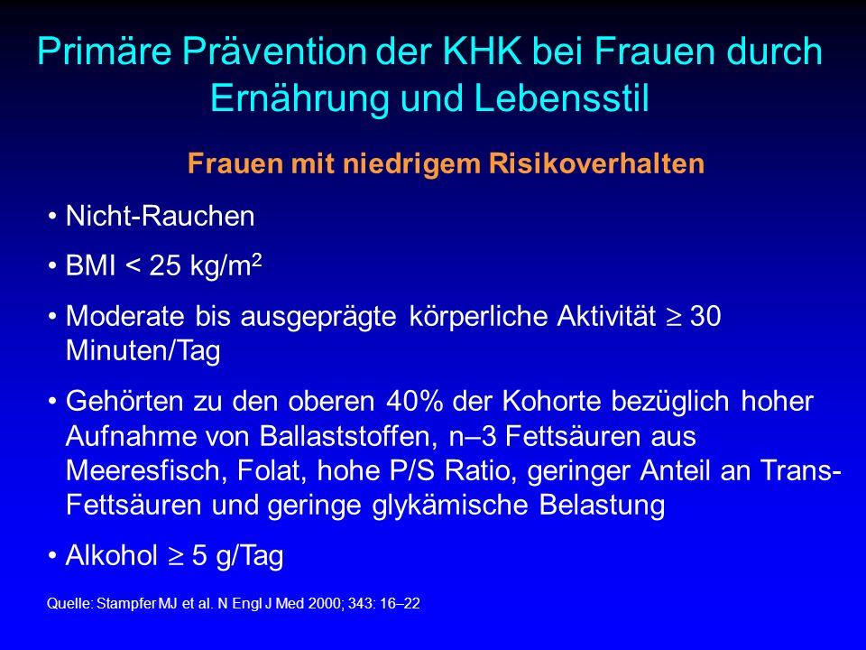 Frauen mit niedrigem Risikoverhalten