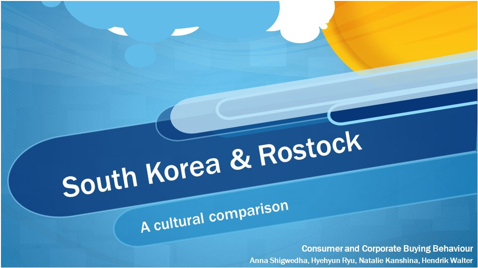 South Korea & Rostock A cultural comparison