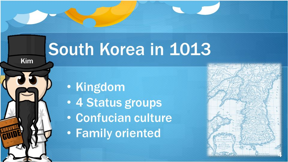 South Korea in 1013 Kingdom 4 Status groups Confucian culture