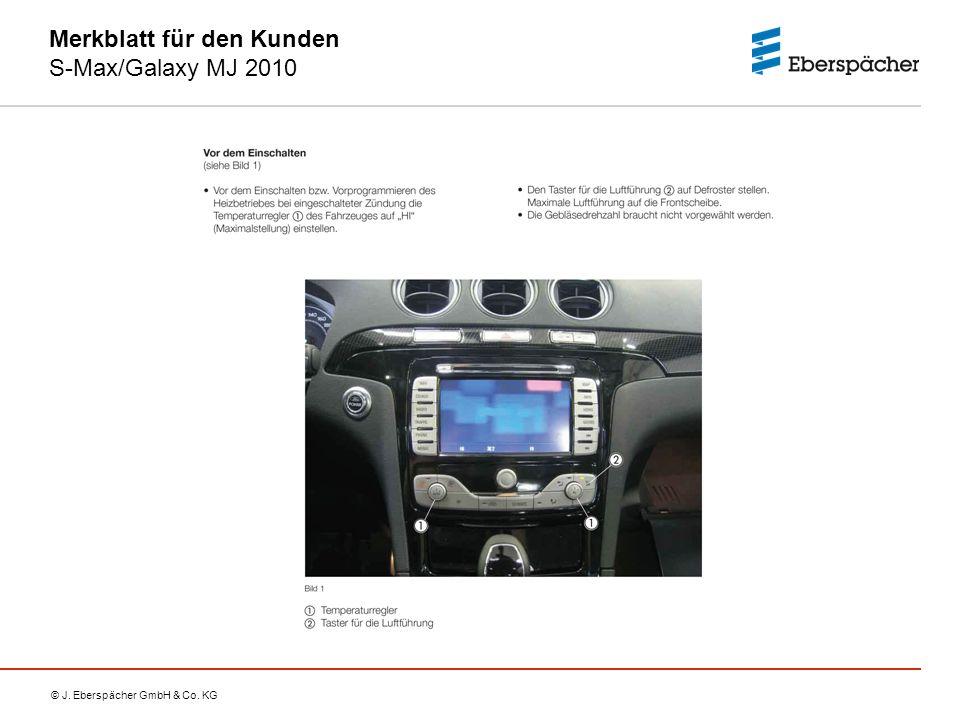 Merkblatt für den Kunden S-Max/Galaxy MJ 2010