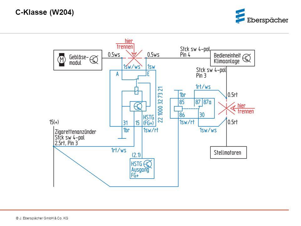 C-Klasse (W204) Gebläseansteuerung Thermatic und Thermotronic C-Klasse (W204): Thermatic = 2-Zonen-Klimatisierungsautomatik.