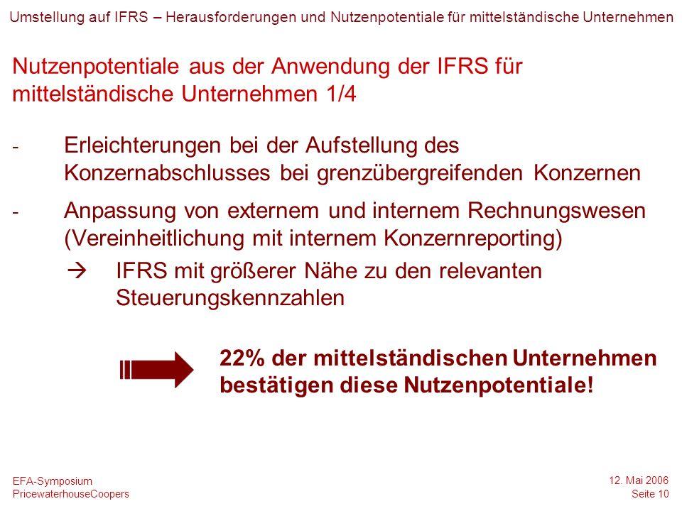  IFRS mit größerer Nähe zu den relevanten Steuerungskennzahlen