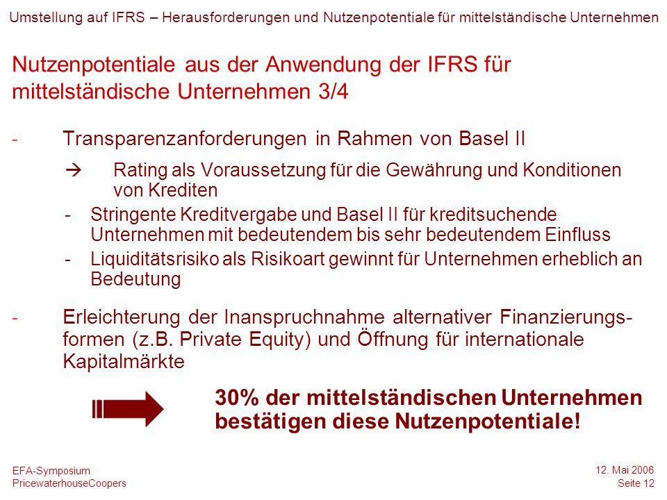 Date Umstellung auf IFRS – Herausforderungen und Nutzenpotentiale für mittelständische Unternehmen.