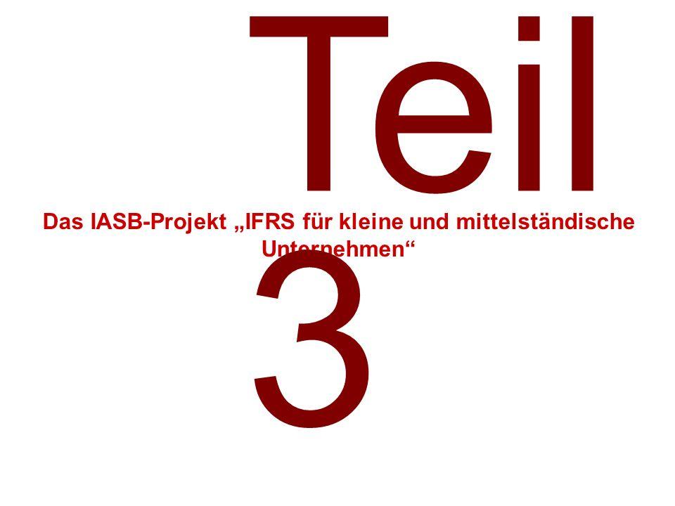 """Das IASB-Projekt """"IFRS für kleine und mittelständische Unternehmen"""